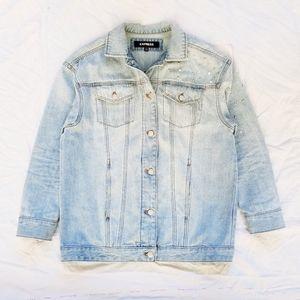 Express Rhinestone Denim Jacket